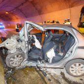 Folgenschwerer Crash im Tunnel