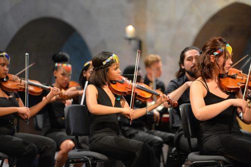 """Das Bochabela String Orchestra aus Südafrika ist maßgeblich am Projekt """"Beethoven goes Africa"""" beteiligt.pforte"""