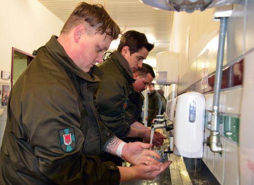 Das Bundesheer hat auch regelmäßiges Händewaschen angeordnet.