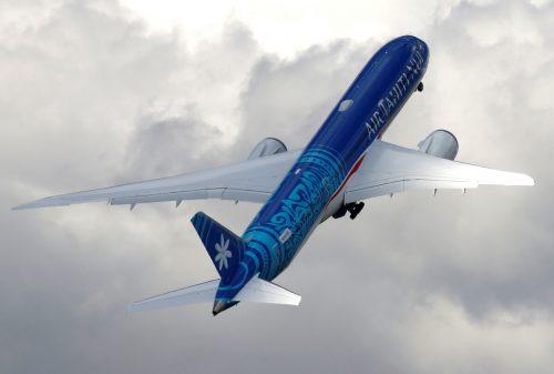 Das Flugzeug flog nonstop von Tahiti nach Paris. Reuters