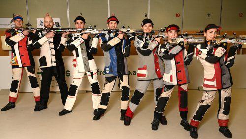 Das Kernteam der USG Altach (v. l.): Thomas Muxel, Tamas Haner, Patrick Diem, Thomas Mathis, Marlene Pribitzer, Kiano Waibel und Sheileen Waibel.Verband