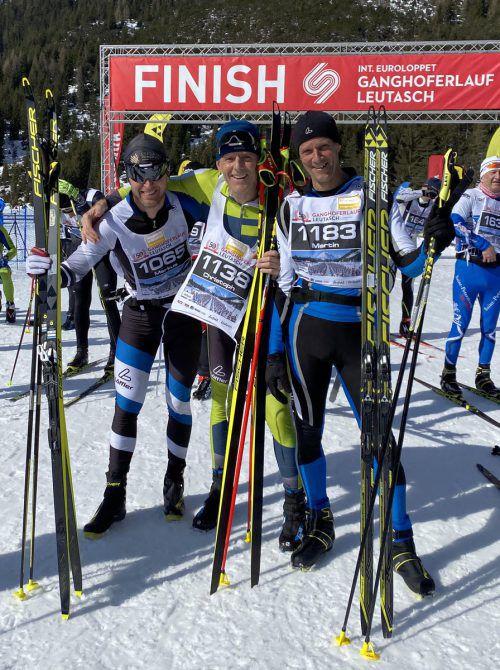 Das Team Bregenzerwald mit Markus Künzler, Christoph Strolz und Martin Stoff (v. l.) gewann Bronze in der Mannschaft bei der Marathon-EM.