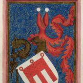<p>Das Wappen von Hugo von Montfort.</p>