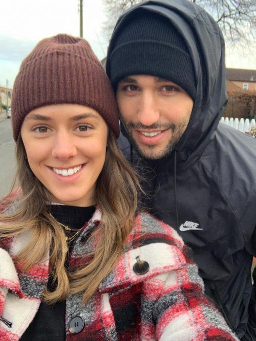 Dejan Stojanovic mit Freundin Magdalena.Privat