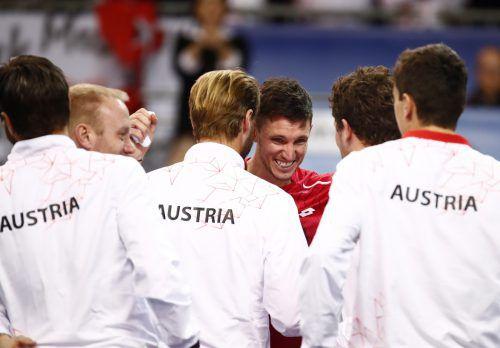Dennis Novak und Österreichs Davis-Cup-Team schafften den Sprung ins Finale in Madrid.Apa