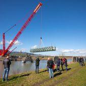 Dienstbahnbrücke bei Mäder ist Geschichte