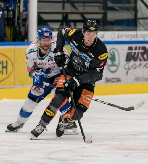Der Dornbirner EC – im Bild Stefan Häußle – hat für die Teilnahme an der kommenden Eishockeyliga seine Nennung abgegeben.stiplovsek