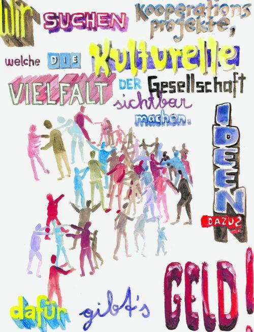 Der Künstler Lorenz Helfer hat das Plakat für die Aktion gestaltet. Helfer