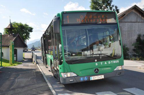 Der Stadtbusverkehr wurde massiv eingeschränkt.Stadt
