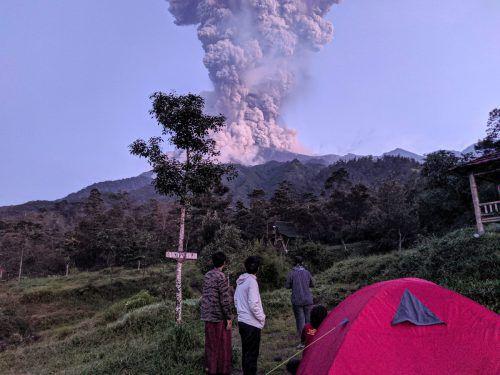 Der Vulkan Merapi auf Java wird als gefährlich eingestuft. Reuters/ r. Tulus