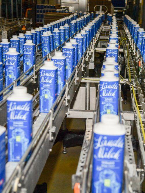 Derzeit läuft die Produktion bei Vorarlberg Milch wieder wie gewohnt. VN/Lerch