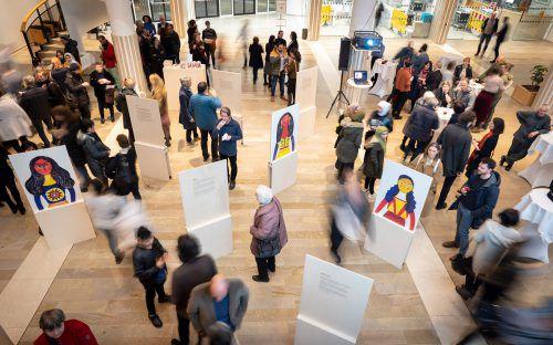 """Die Ausstellung """"Zuhause in mir"""" eröffnet in Dornbirn. Caritas"""
