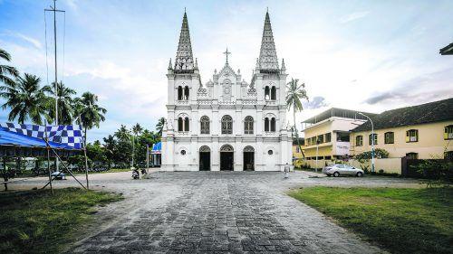 Die Basilika Santa Cruz ist einer der vielen schönen Bauten in der Altstadt von Fort Kochi. Shutterstock (5)