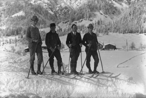 Die ersten Skier wurden aus Eschenholz gefertigt.
