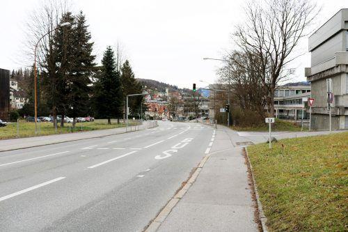 Die L191a wird in Richtung des Schulbrüderareals (links am Bild) verlegt. In diesem Bereich entsteht ein Portal für den Stadttunnel. stadt/Behrle