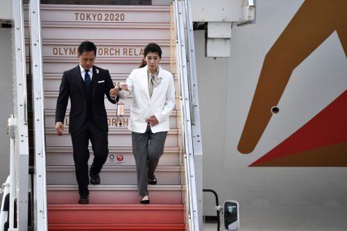 Die olympische Flamme ist mittlerweile in Tokio angekommen. apa