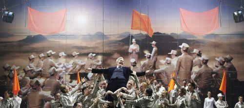 """Die Produktion """"Nixon in China"""" hatte vor einem Jahr Premiere. Staatsoer/Baus"""