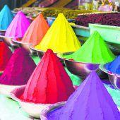 Farbpulver für das Frühlingsfest