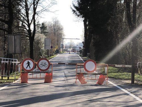 Die Schmittergrenze von Lustenau in die Schweiz ist zu.