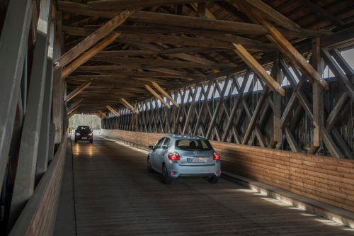 Die Senderbrücke wird täglich von bis zu 8000 Fahrzeugen befahren. VN/Paulitsch, VLK