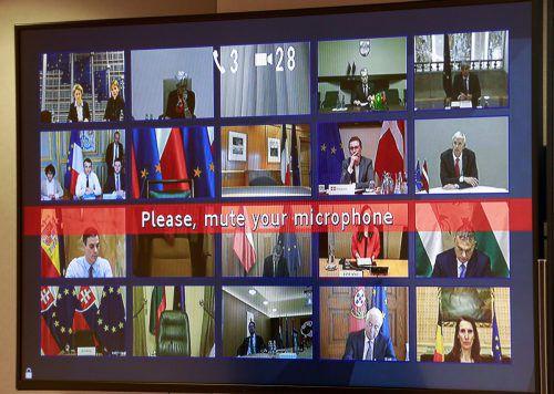 Die Staats- und Regierungsschef berieten sich via Videokonferenz.