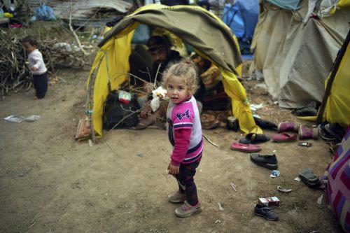 Die Zustände in denFlüchtlingslagernauf dengriechischenInseln gelten seit Langem als untragbar.AP
