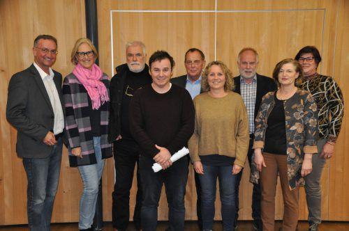 Dieter Lauermann, Angelika Baumann, Hans Bösch, Martin Mittermair, Hubert Zerlauth, Angelika Schanung, Wolfgang Rothmund, Angela Jäger, Ilse Dünser. H. Bösch