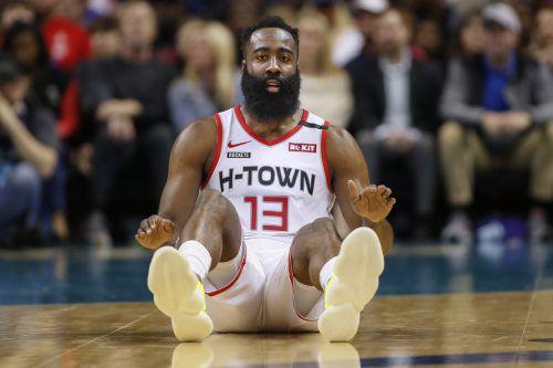 """Ein """"Quadruple-Double"""" von James Harden war zu wenig für seine Houston Rockets.Ap"""
