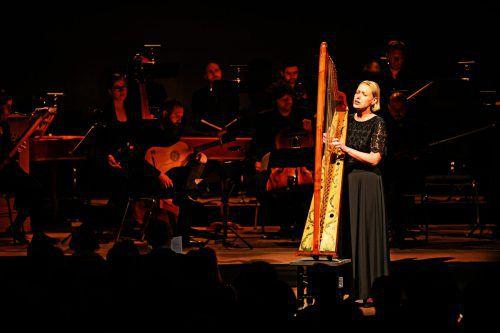 Ensemble Concerto Stella Matutina mit Tanja Vogrin, die als Eurydike auch die Harfe bediente. Zwischentöne/M. Rhomberg
