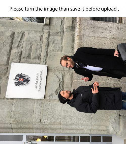 Ex-Eishockeystürmer Chris Harand (l.) und sein Rechtsanwalt Johannes Reisinger befinden sich im Rechtsstreit mit dem Dornbirner EC. do