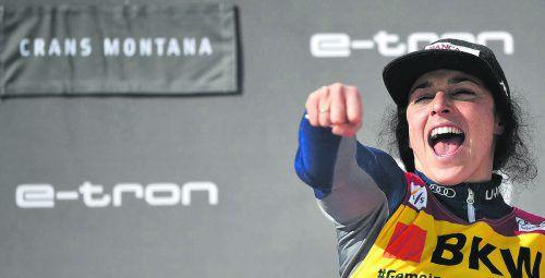Federica Brignone sicherte sich als erste italienische Läuferin den Gewinn des Skiweltcups.ap