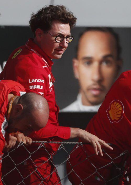 Ferraris Mattia Binotto erarbeitet mit den anderen Teamchefs Notfallpläne.ap