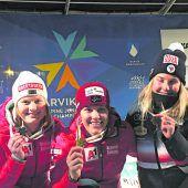 Magdalena Egger überraschte mit zwei Goldmedaillen bei der Junioren-Ski-WM. C1
