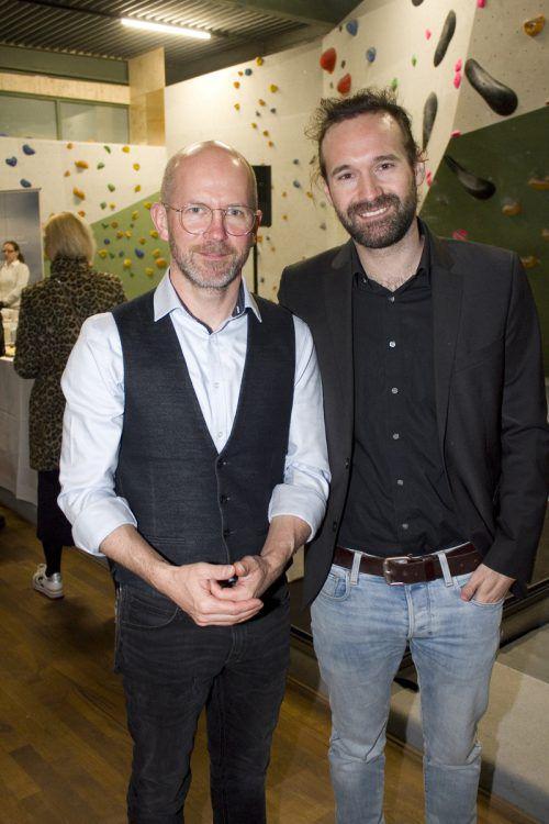 Fotograf Matthias Weissengruber (l.) und Planer Claudio Raid (Haustechnik).