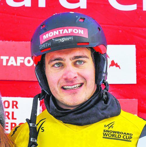 Für Snowboarder Alessandro Hämmerle geht es heute um die Titelverteidigung.gepa