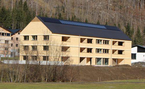 Große Fortschritte macht die neuen Wohnanlage in Schnepfau-Hirschau.