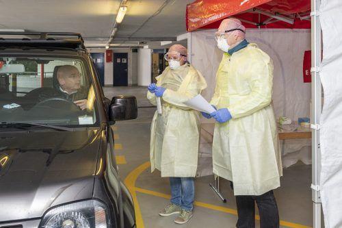 Im Fürstentum Liechtenstein werden ab heute, Montag, Corona-Testungen in der Vaduzer Marktplatzgarage durchgeführt.