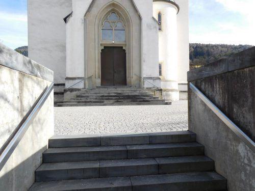 Im Rahmen der Bauarbeiten erhält die Pfarrkirche der Vorderlandgemeinde Weiler einen barrierefreien Zugang. Mäser