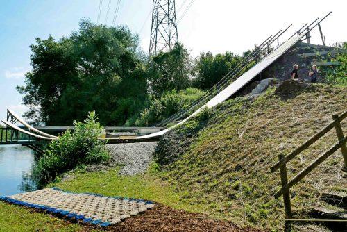 In den Rheinauen Hohenems entsteht das neue Vorarlberger Freestyle-Trainingszentrum. mima