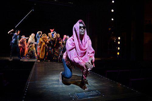 In der Rolle der erwachsenen Waris Dirie ist Kelly Jean im Musical zu erleben.THEATER SG/A. J. Etter