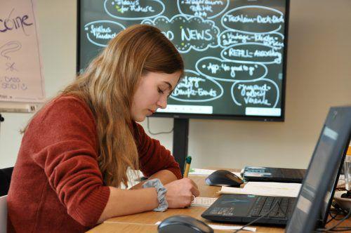 In der Schreibwerkstatt schnupperten junge Menschen in den Journalismus hinein. aha
