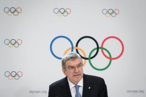 IOC-Chef Bach wird von vielen Seiten scharf kritisiert.AFP