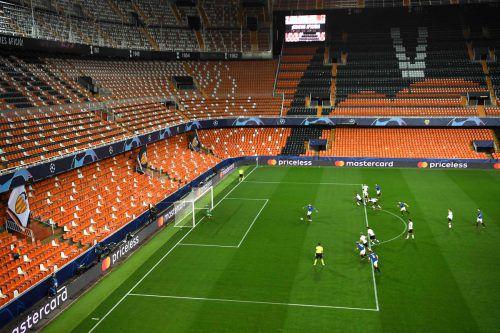 Irgendwie doch gewöhnungsbedürftig, das Geisterspiel in der Champions League zwischen Valencia und Atalanta Bergamo.Reuters