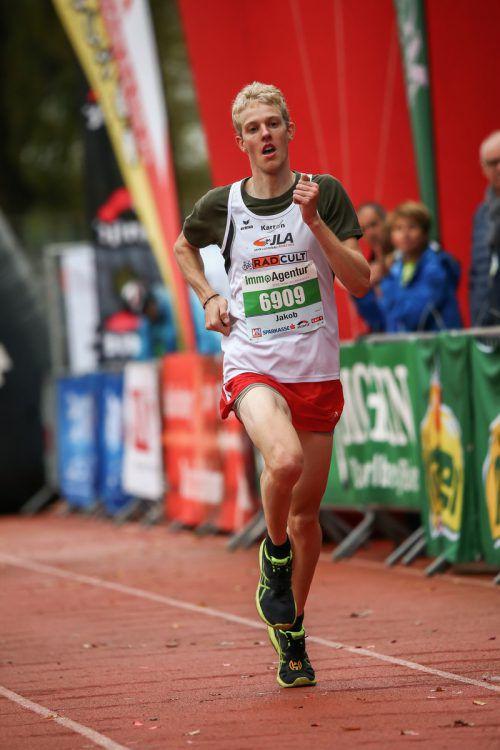 Jakob Mayer wurde Crosslaufmeister auf der Lang- und Kurzstrecke.Steurer