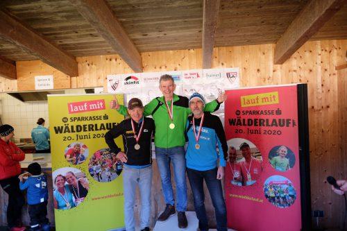 Johannes Rüdisser holte sich die Goldmedaille. (Mitte)lauftreff hohenems