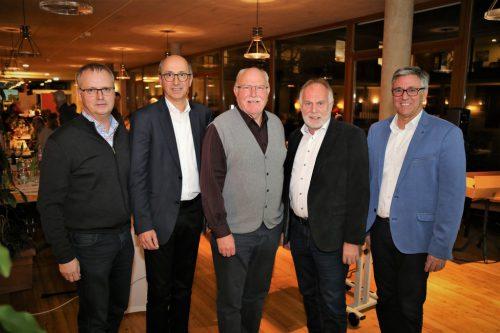 KPV-Obmänner Herbert Lins, Werner Gopp und Walter Fontana mit KPV-Vorarlberg-Obmann Wolfgang Rothmund und Bürgermeister Wolfgang Matt.emir t. uysal