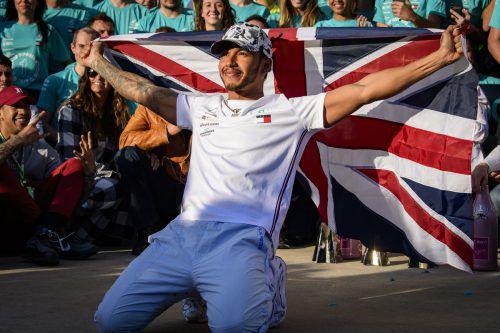 Lewis Hamilton macht weiter Jagd auf die Rekorde von Michael Schumacher.ap, Gepa, Is