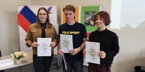 Lukas (M.) siegte beim Russisch-Sprachwettbewerb.BG Feldkirch