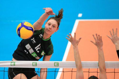 Mit 27 Punkten war Ursula Ehrhart im Finale erfolgreichste Grazer Angreiferin. GEPA