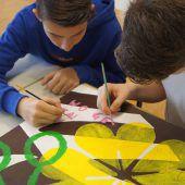Lingenauer Schüler peppen Sitzungssaal auf